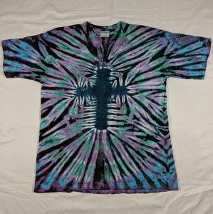Tie dye cross t shirt